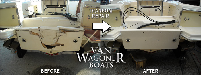 Cheap Boat Fiberglass Repair and Custom Boat Transom Repair